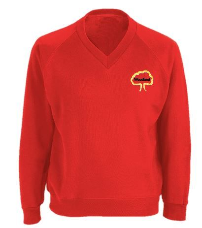 Woodland Middle School V Neck Sweatshirt