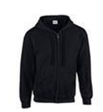 Black Heavy Blend full zip Hoody - Large