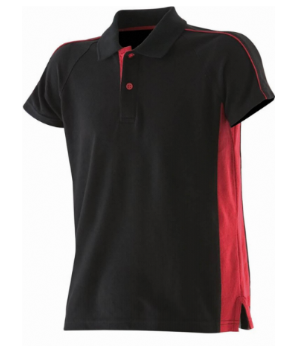 Black & Red Kids Sports Polo