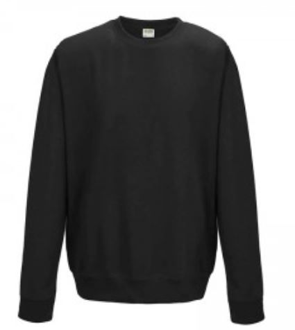 Crew Neck Black Embroidered Sweatshirt