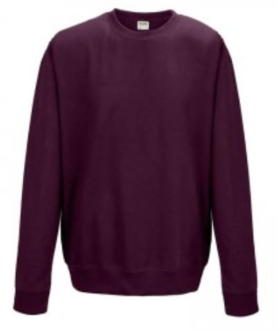 Crew Neck Burgundy Embroidered Sweatshirt (1) (2)