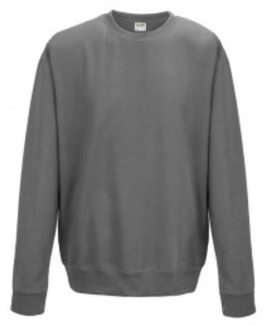 Crew Neck Grey Embroidered Sweatshirt (4)