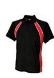 Red & Black Jersey team polo - Medium