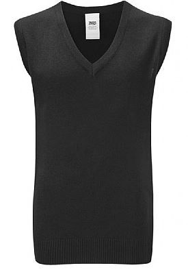 Red Spinners Black sleeveless Knitted Jumper with Embroidered logo