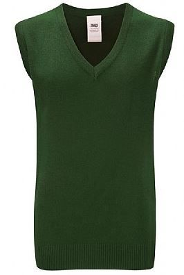 Red Spinners Bottle Green sleeveless Knitted Jumper with Embroidered Logo