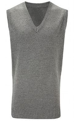 Red Spinners Grey sleeveless Knitted Jumper with Embroidered logo